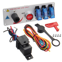 12v Car Panel Engines Start Push Button Toggle Ignition Switch For Racing Cars