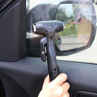 Car Window Glass Breaker Useful Safety Hammer Tool Base Car Window Breaker Life Hammer Mini Hammer Seat Belt Cutter
