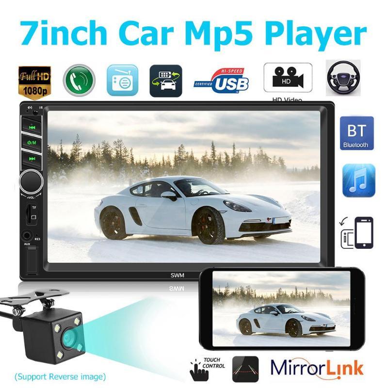 12V 7 inch Auto Radio Car MP5 Player 2 Din Car FM Radio BT 4 0