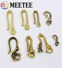 3 Pcs Meetee Pure Brass Hook Buckle U Shape Keychain For Cloth Chain Bracelet  Mix Style AP2392