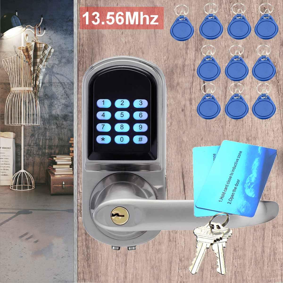 Sécurité électronique mot de passe numérique serrure de porte intelligente Code d'entrée de sécurité + clé + IC et RFID carte contrôle d'accès automatisation du bâtiment