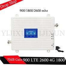 Бесплатная доставка 4 г ретранслятор 2600 МГц 900/1800/2600/МГц 2 3g 4 г ретранслятор сигнала мобильной связи сотовая связь усилитель сигнала