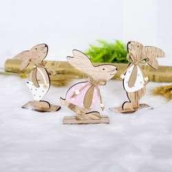 1 шт. пасхальные украшения кролик из дерева формы украшения ремесло подарки вечерние Принадлежности Декор для детских комнат подарок для