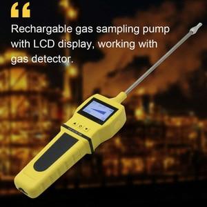 Image 4 - 4 ב 1 O2 H2S CO דליק גז גלאי עם סמפלר גז משאבת חמצן פחמן חד חמצני גז Analyzer צג גז דליפת גלאי