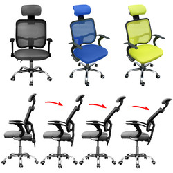 Panana Computer Home Office Chairs Ergonomics Mesh High Back with Relaxing Head Pad Boss Chair 360 Degree Swiveling Wheels