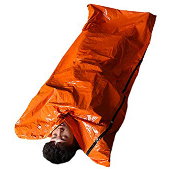 Emergency Survival Sleeping Bag Easy Heat Insulation Compact Outdoor First Aid Gear Waterproof Bivy Sack For Camping Hiking Ba Camp Sleeping Gear Sleeping Bags