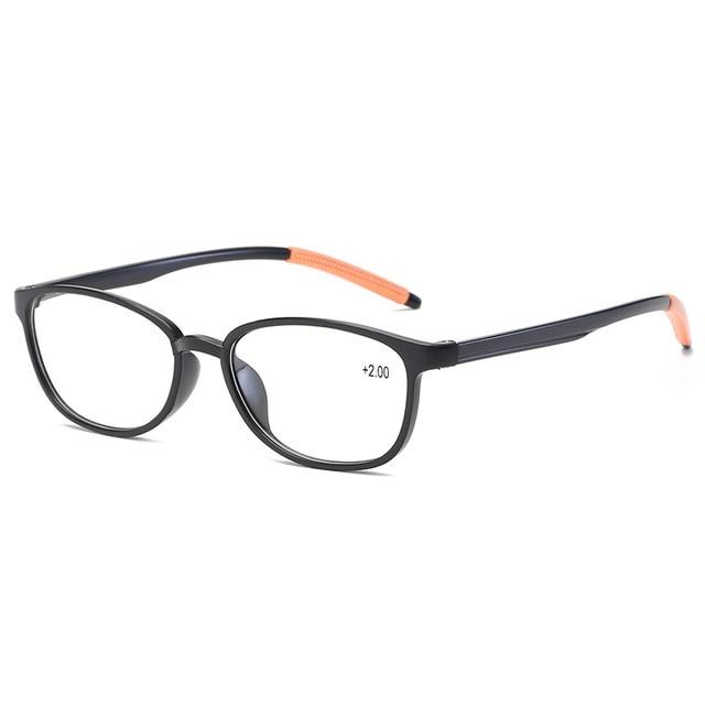 Fahion TR90 Ultra light Reading Glasses Anti-skid Women Men Reading Eyeglasses HD Resin Mirror Prescription Glasses 808