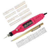 Micro-gravador elétrico caneta mini diy ferramenta de gravura kit para metal vidro cerâmica plástico madeira jóias com scriber etcher 30 bi