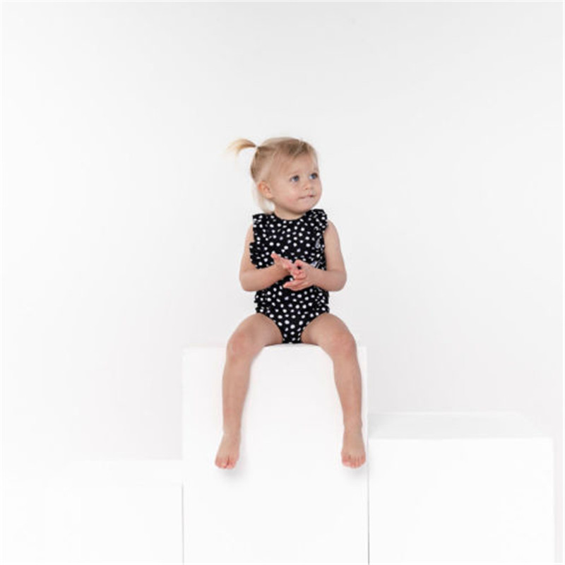 PUDCOCO Toddler Kids Baby Girl Lotus leaf fold Swimwear Romper Jumpsuit Bathing Outfits Swimsuit Clothes in Clothing Sets from Mother Kids