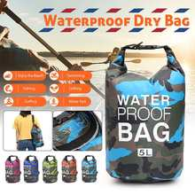 5L Lightweight Outdoor Waterproof Dry Bags Swimming Bag Water Resistance for Boating Kayaking Camping Rafting River Trekking Bag