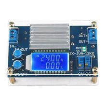 Постоянного тока 0 32 В 12А постоянного напряжения тока ЖК дисплей цифровой напряжения тока Регулируемый понижающий модуль питания плата