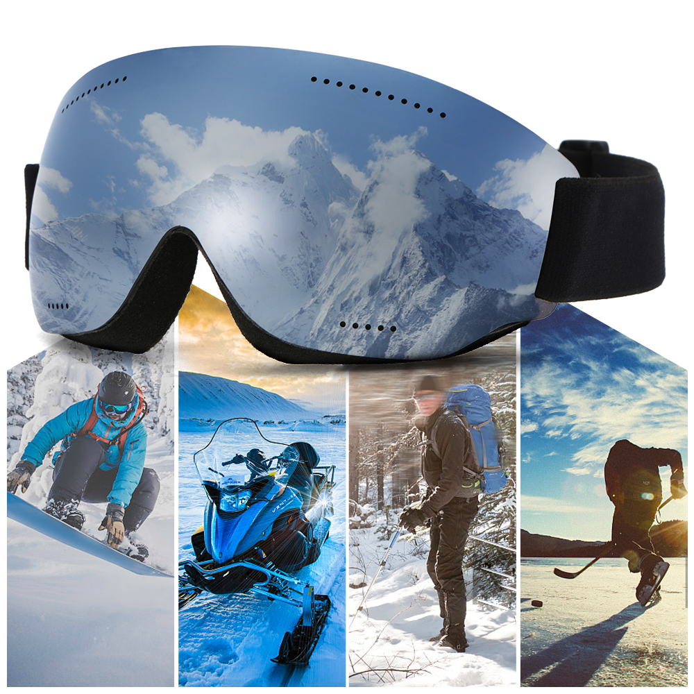26390a898c5 Men Women Snow Skiing Goggles UV400 Protective Anti-fog Ski Goggles OTG  Climbing Skating Glasses
