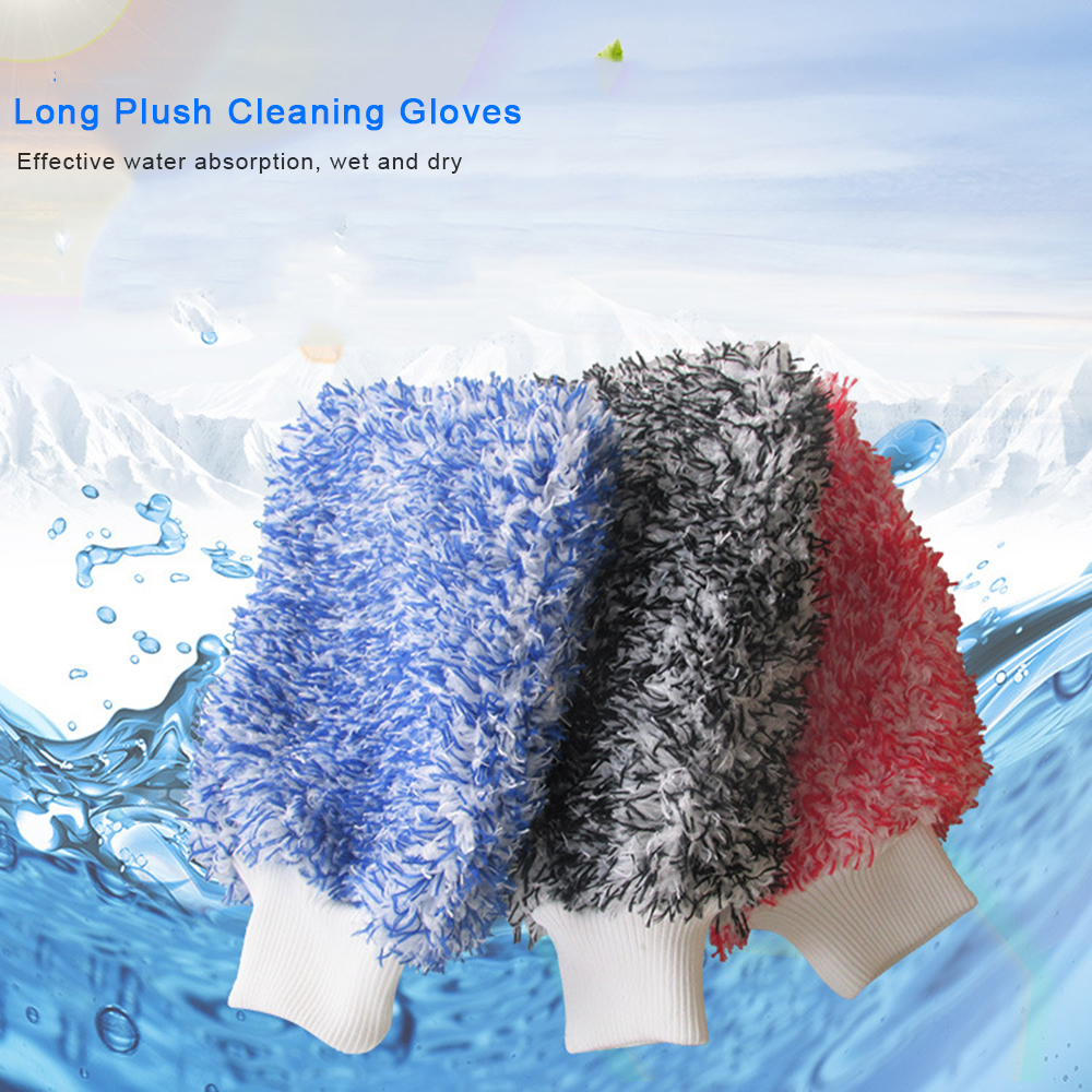 Soft Absorbancy Glove High Density Car Cleaning Ultra Soft Easy To Dry Auto Detailing Microfiber Madness Wash Mitt Cloth(China)