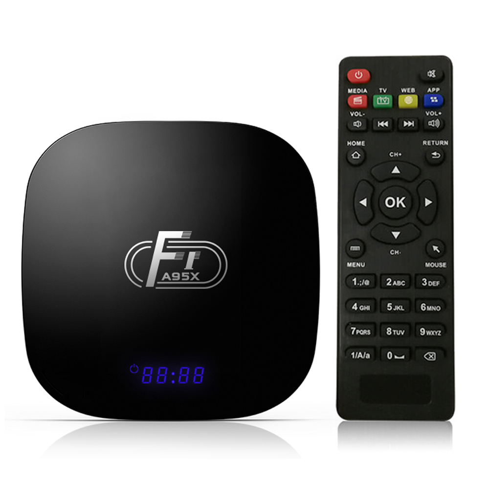 A95X F1 Android 8.1 TV Box Amlogic S905W 2GB16GB Smart TV Set Top Box Quad Core VP9 H.265 LED 2.4G WiFi 100M LAN HD Media Player-in Set-top Boxes from Consumer Electronics    1