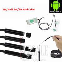 5,5 мм 1 м жесткий кабель Android эндоскоп камера Водонепроницаемый Бороскоп Инспекционная камера жесткая трубка для Android телефона samsung
