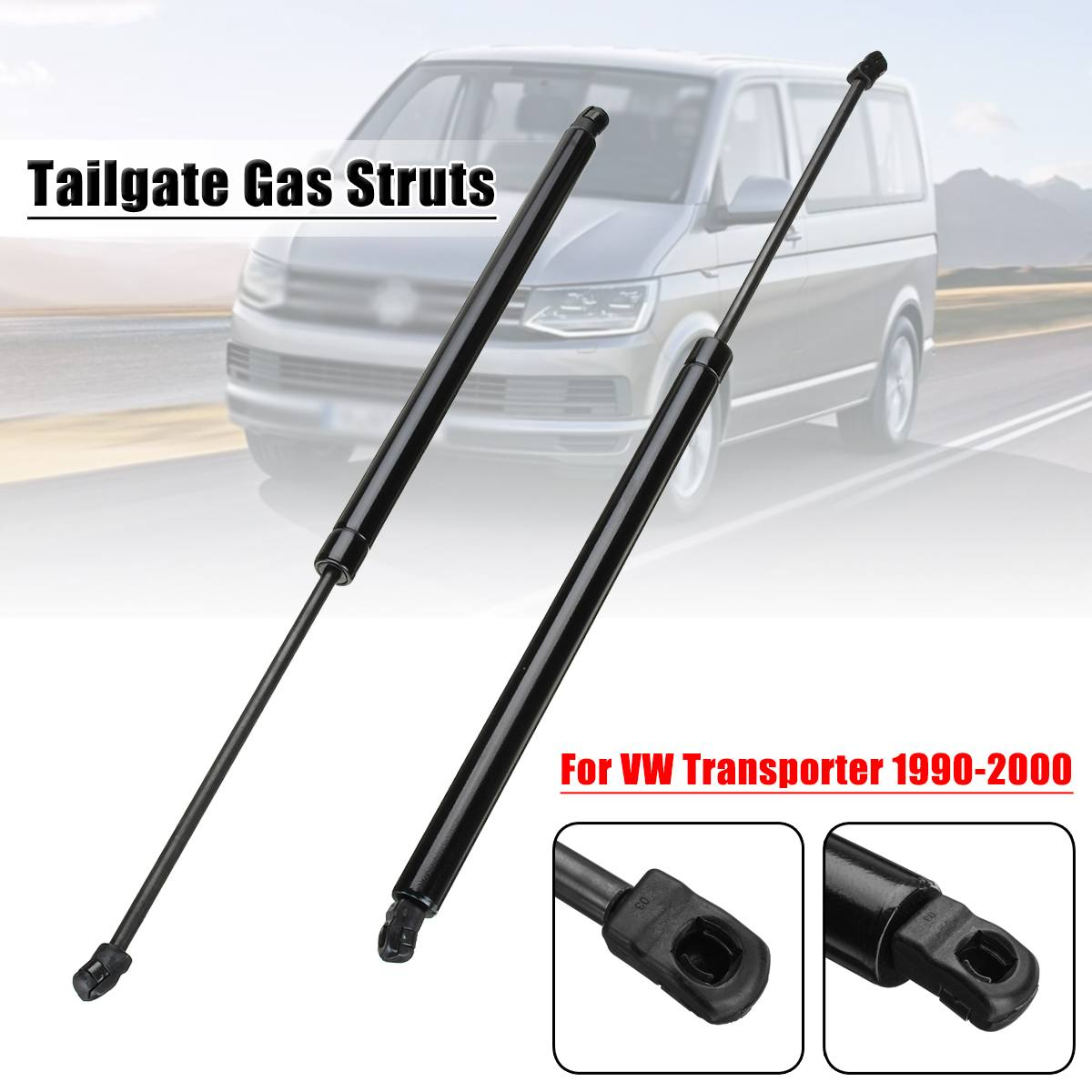 Pair Car Rear Tailgate Lift Trunk Support Rod Gas Struts 970N for Volkswagen for VW Transporter T4 Transporter MK IV 1990-2003Pair Car Rear Tailgate Lift Trunk Support Rod Gas Struts 970N for Volkswagen for VW Transporter T4 Transporter MK IV 1990-2003