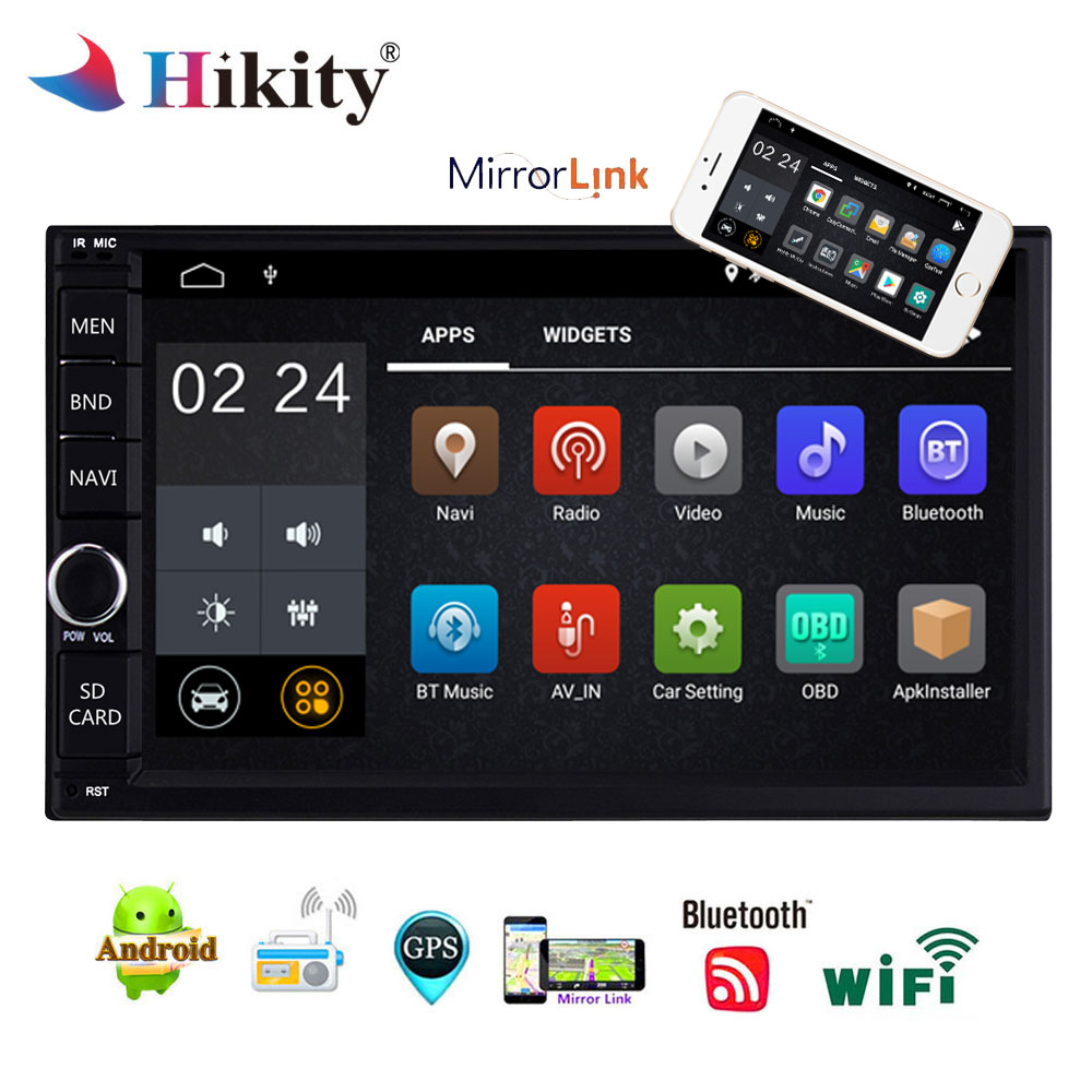Hikity 7 Android 8 1 Car Multimedia Player Quad Core 2G 16G Universal Double 2 Din