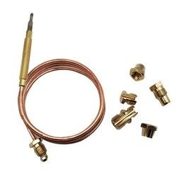 Gasfornuis Universele Thermokoppel Kit M6X0.75 Met Spilt Noten (Vijf) vervanging Thermokoppel Meer dan De 20mV Koper 900Mm|Oven Onderdelen|   -