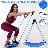 Twisting Fitness Balance Board with Pull Rope Simple Core Workout for Abdominal Muscles and Legs Balance Fitness Yoga Board