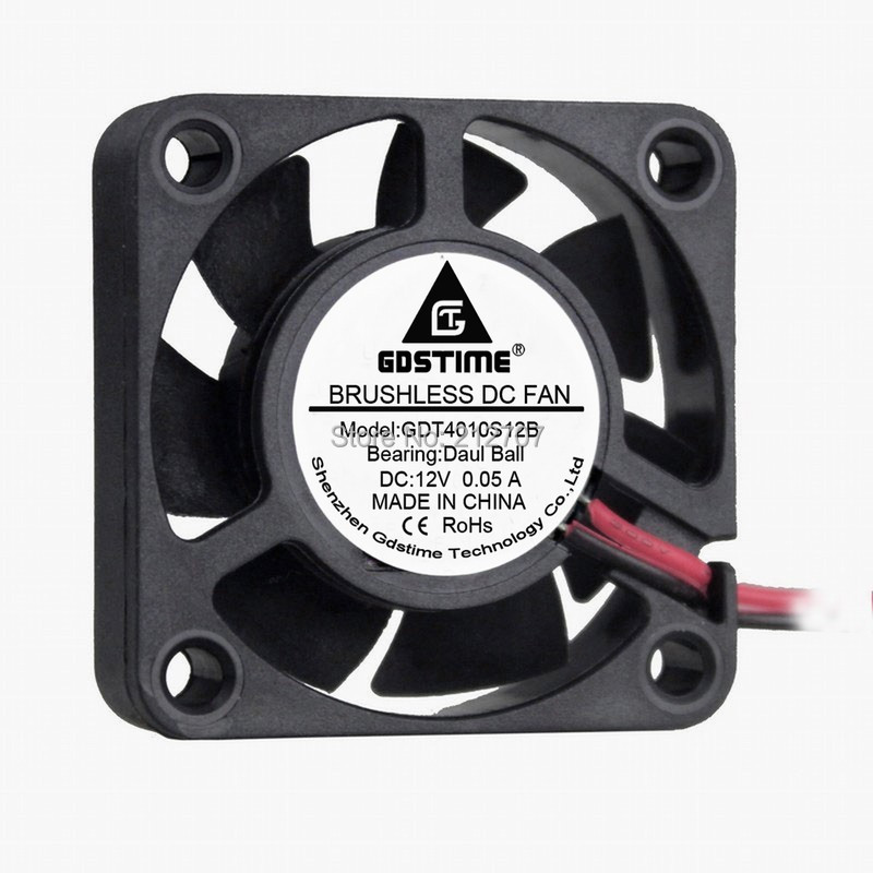 1 Piece Gdstime Ball Bearing 12V 2Pin 40mm 4cm 40x40x10mm Small Brushless DC Cooling Fan