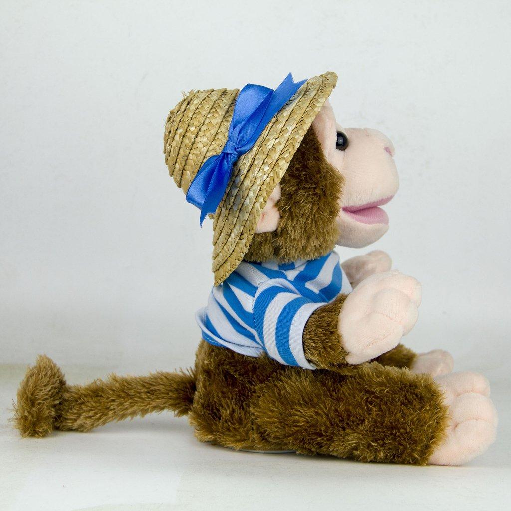 22cm Plush Monkey Doll Sing Swing Arm Home Decoration Educational Toys Birthday Gift for Baby Children Kids Toddler 3