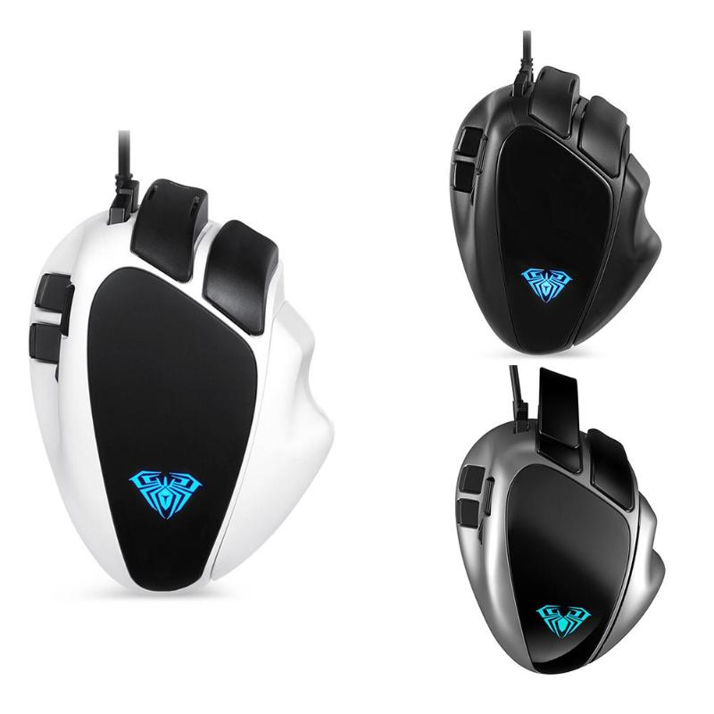 ALLOYSEED S10 Gaming macroprogrammation USB filaire 4000 DPI 7 boutons souris mécanique pour Overwatch
