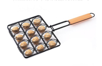 Charcoal Companion BBQ Tool Non Stick Meat ball Grilling Basket Hold 12 Meatball