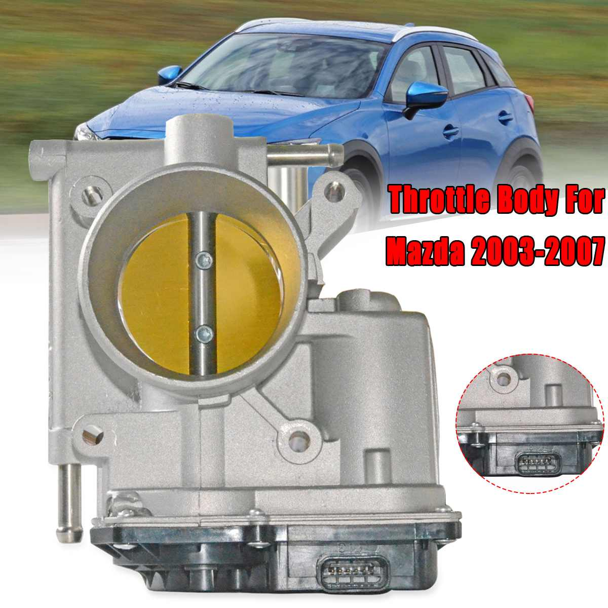 L32113640G E101284 Throttle Body For Mazda 3/5/6 03 07 2.0L & 2.3L Motor Metal Air Intake System Auto Replacement Parts