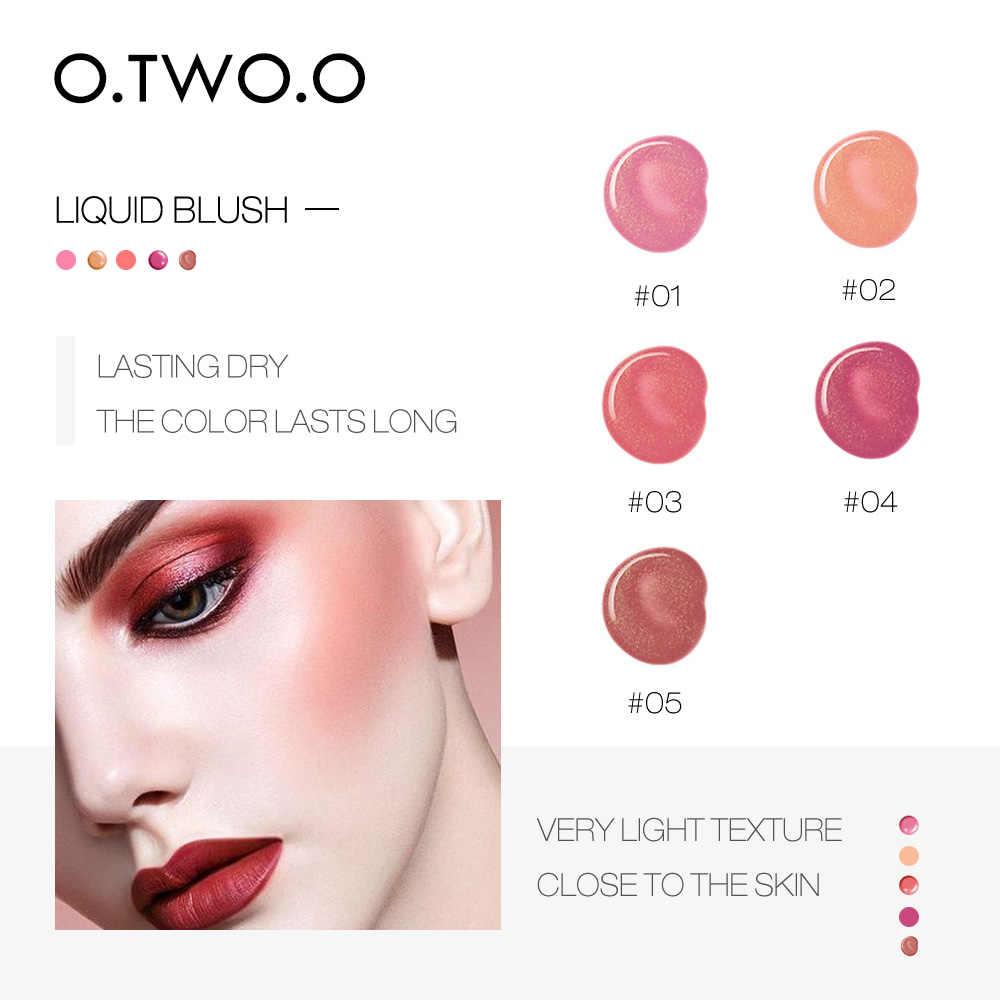 O.TWO.O แต่งหน้า Face Blusher เพรียวบาง Silky Paleta De Blush 6 สีติดทนนาน Natural Cheek Blush Face Contour up