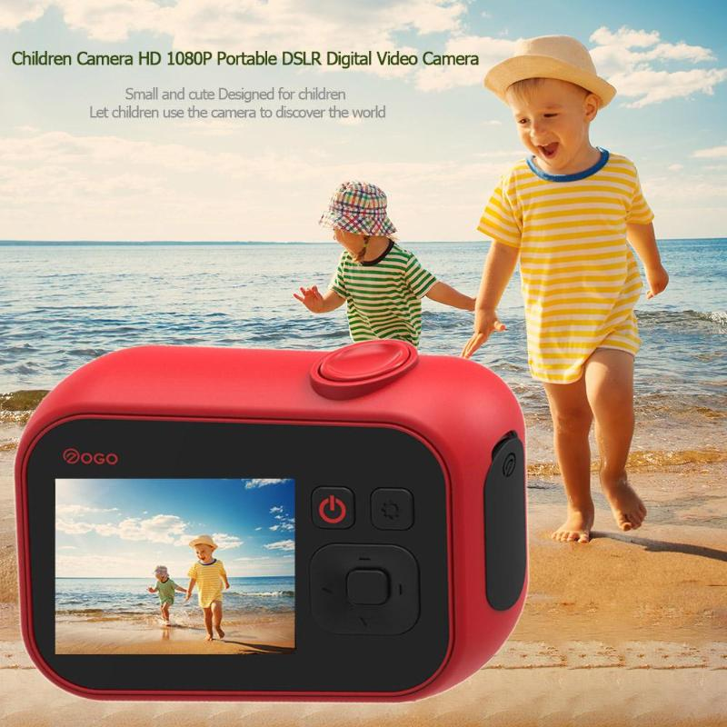 Enfants cadeau d'anniversaire caméra vidéo numérique jouet électronique caméra HD 1080 P Portable DSLR 2 pouces écran caméras d'affichage