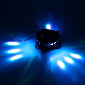 Image 3 - Party Disco KTV 90 W 9LED RGBW kolor DMX512 kontrola dźwięku 16/48 kanałowy Mini trójkąt lampa pająk Beam etap światło dla klubu