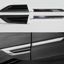 Dla Tiguan 2018 liści pokładzie boczne standardowe naklejki samochodowe naklejki dekoracji drzwi samochodu