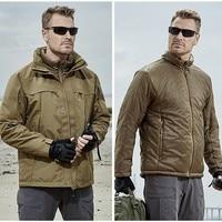 Съемная уличная 3 в 1 тактическая ветровка осень зима мужские утепленные хлопковые пальто Training Охота пеший Туризм езда теплая куртка