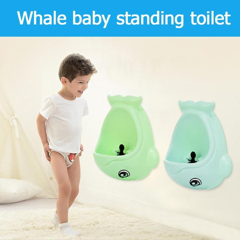 Cute Baby Boy Wall-Mounted Hook Cute Potty Toilet Training Stand Vertical Urinal Baby Potty Training Pad Kids Educational Toys