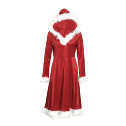 Christmas Dress Women Ladies Dresses Xmas Holiday Dress Santa Long Sleeve Xmas Family Matching Clothes NEW Red 9