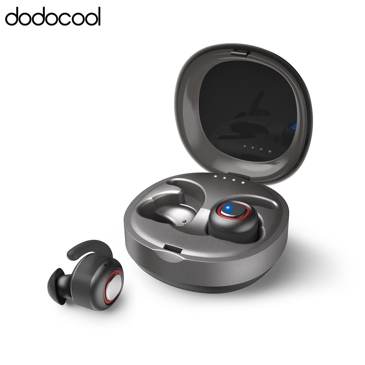 Dodocool Sans Fil Bluetooth dans-era Écouteurs avec Boîte De Charge Support pour Google Assistant et pour Siri Sweatproof Sport Écouteurs