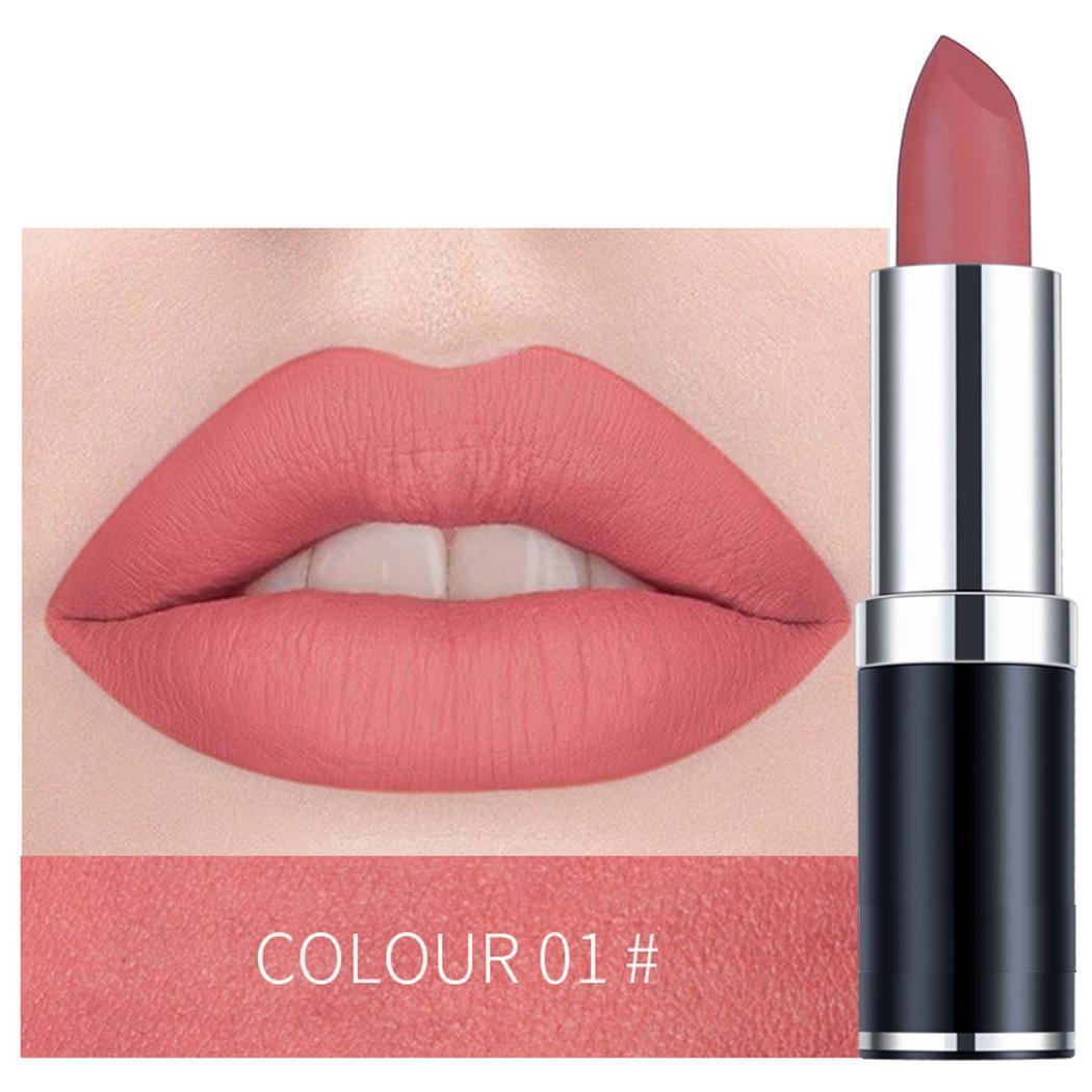 12 Colors Matte Lipstick Waterproof Long Lasting Moisturizing High Color Women Makeup Lipstick Cosmetics