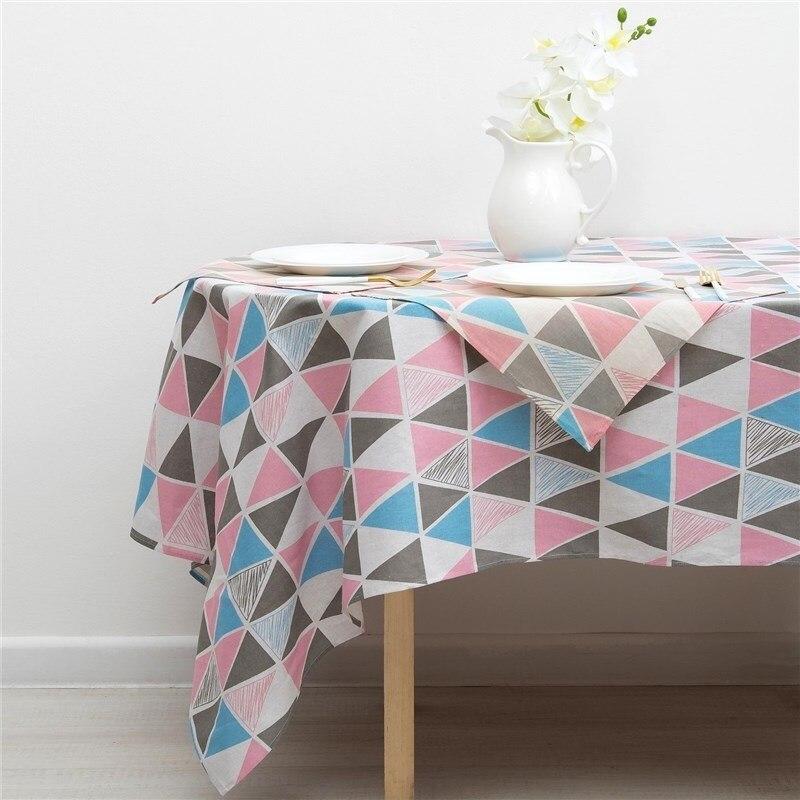 Set Доляна tablecloth 145х200см/wipes 40х40см 4 PCs, Mosaic, 100% PE, рогожка 200 C/M 3580567