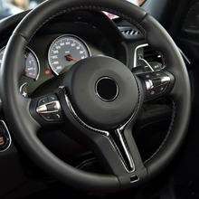 עבור BMW M2 F87 M3 F80 M4 F82 M6 F06 F12 F13 X5M F85 X6M F86 סיבי פחמן + ABS החלפת הגה כיסוי רק סדרת M
