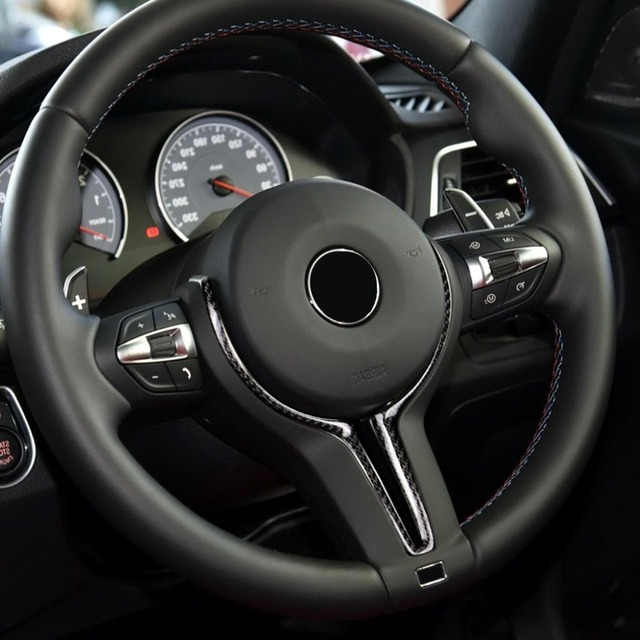 Cubierta de repuesto para volante de BMW, fibra de carbono y ABS, solo serie M, para M2, F87, M3, F80, M4, F82, M6, F06, F12, F13, X5M, F85, X6M, F86