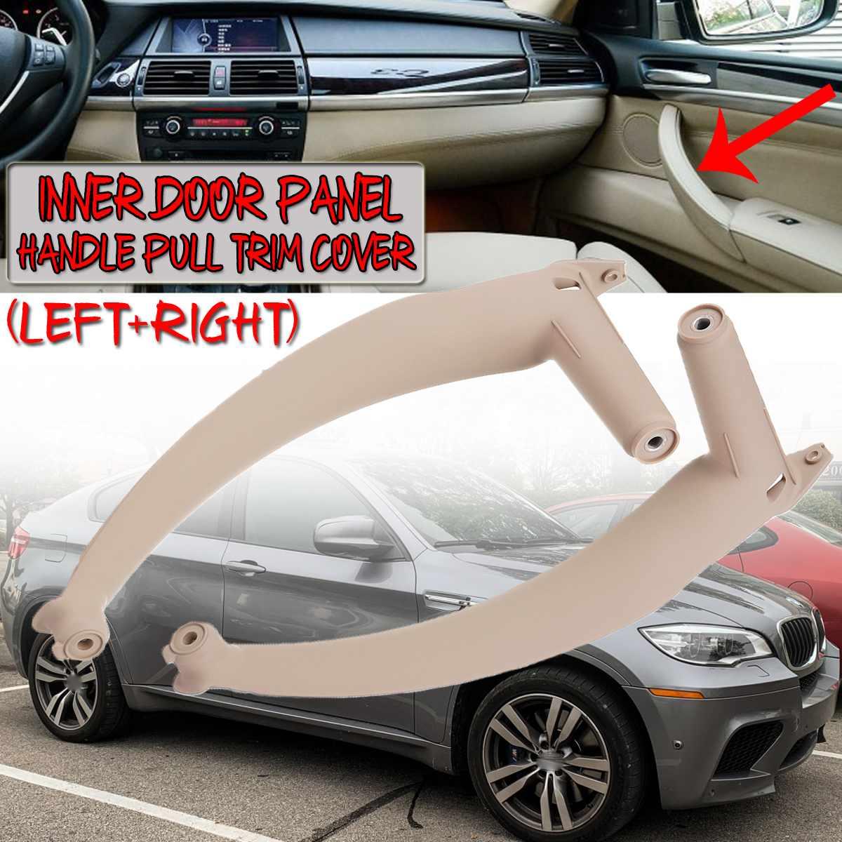 3 cor Interior Maçaneta da porta Para BMW E70 X5 SAV 2007-2013 E71/E72 X6 SAV 2008- 2014 Maçaneta Da Porta Interior Do Painel Do Carro Puxar Tampa da Guarnição