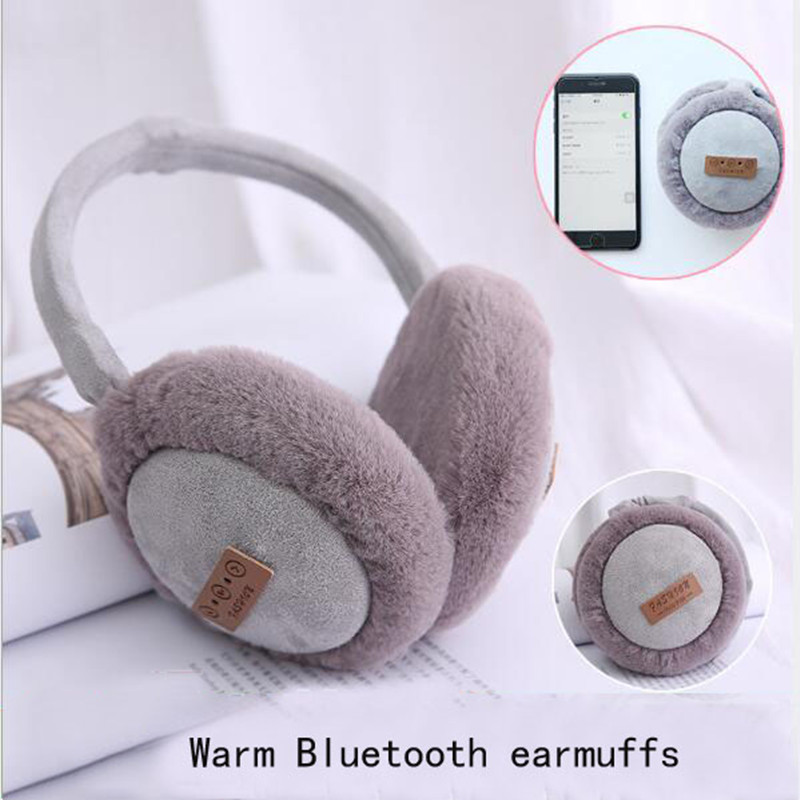 2019 Explosion Fashion Lovely Wireless Bluetooth Headset Pure Cotton Headphones Music Warm Plush Earmuff Classic Trend Design