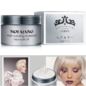 One-Time DIY Mud Molding 7 Colors Hair Color Wax Hair Dye Temporary Disposable Hair Chalk Paste Creme Modeling Easy Wash TSLM2