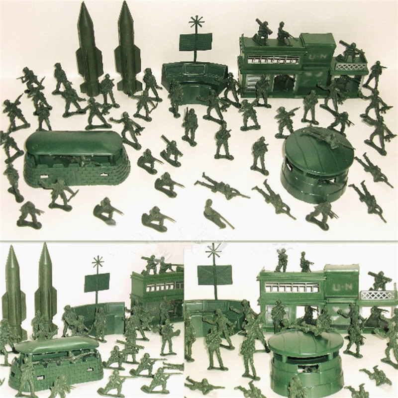 Action & Toy Figures Independent 300pcs Sandbox Game Soldier Model Military War Plastic Toy Army Men Figures For Children Kids Boys Gift