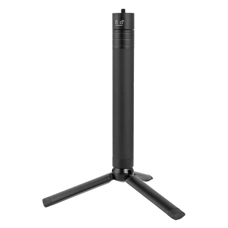 ALLOYSEED 2 In 1 Foldable Tripod Stand Extendable Monopod Pole Hand Grip Selfie Stick For DJI OSMO Mobile 2 Gimbal Accessories