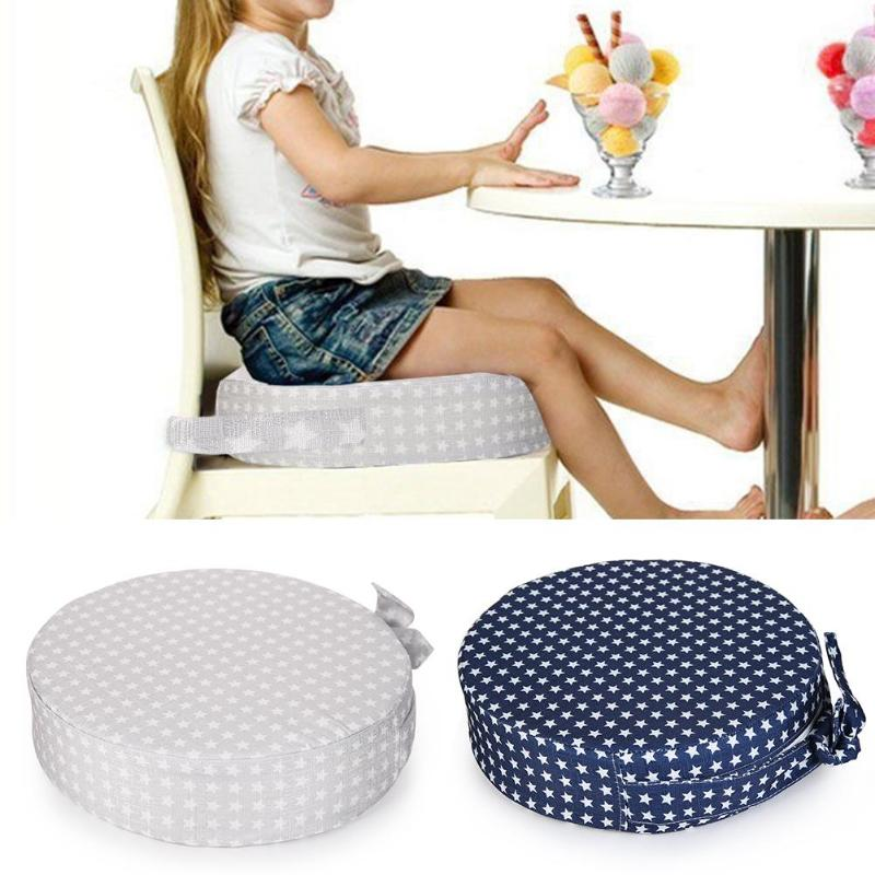 Stars Print Round Detachable Seat Baby Dining Chair Cushion Booster Mats Heightening Cushion Washable Thickening Kids Chair Seat