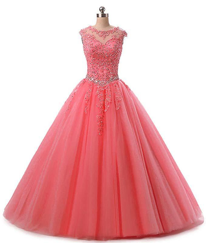 Weddings & Events Aufstrebend Quinceanera Kleider Wassermelone Rot Applique Perlen Navy Blau Erwachsene Kleid Rosa Süße 16 Kleid Quinceanera Vestidos Mingli Tengda
