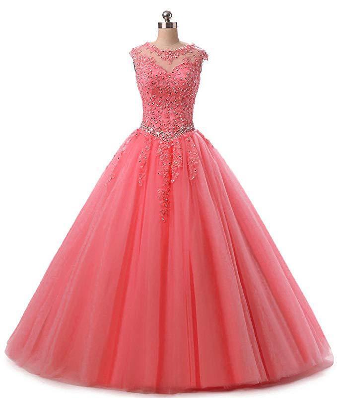 Robes Quinceanera pastèque rouge Applique perlée bleu marine adulte robe rose douce 16 robe Quinceanera Vestidos Mingli Tengda