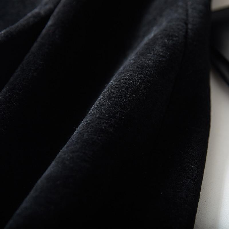 Vestes Grand Véritables De Femme Fourrures Fourrure Manteaux Femmes Taille Veste Black Manteau Hiver Laine D'hiver CA7wqzx0x