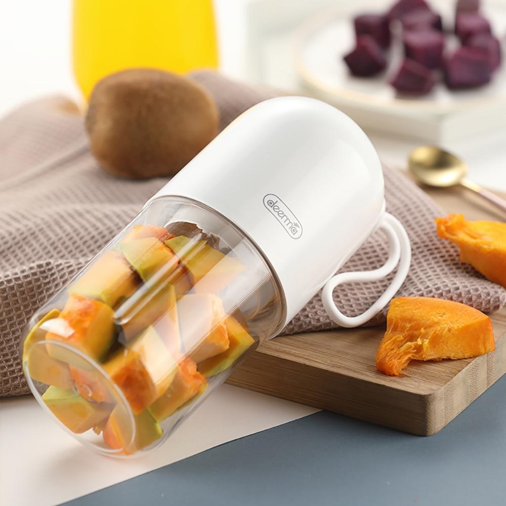 2020 Original Deerma DEM - NU01 300ml Portable Electric Juicer Blender Mini Capsule Shape Powerful Juicers Cup For Travel